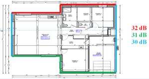 Étude de l'isolement acoustique en facade d'une maison individuelle