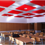 Solution de traitement acoustique au plafond